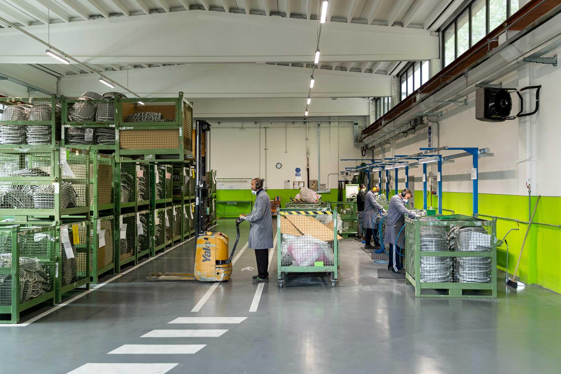 Interni nuovo reparto finitura fusioni in alluminio